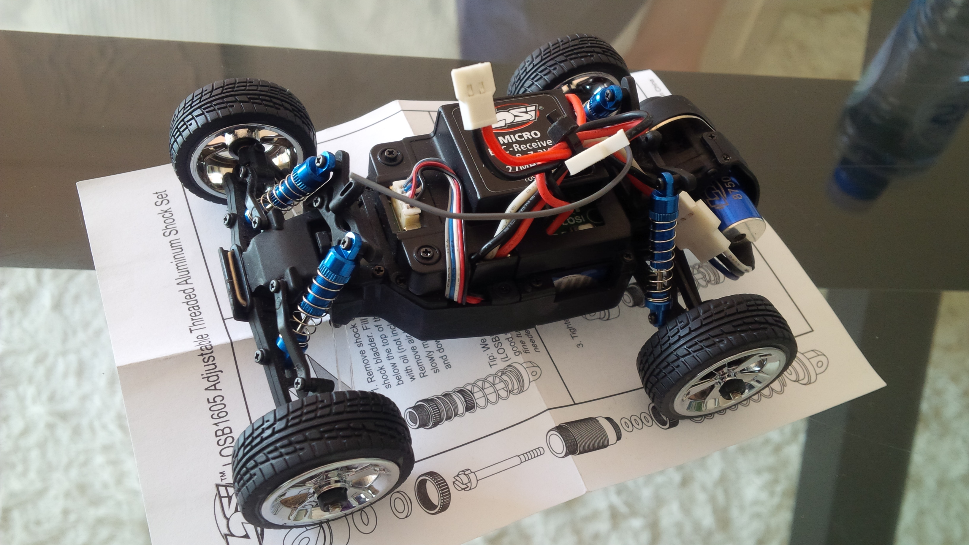 Mascot happily upgraded Losi Micro T